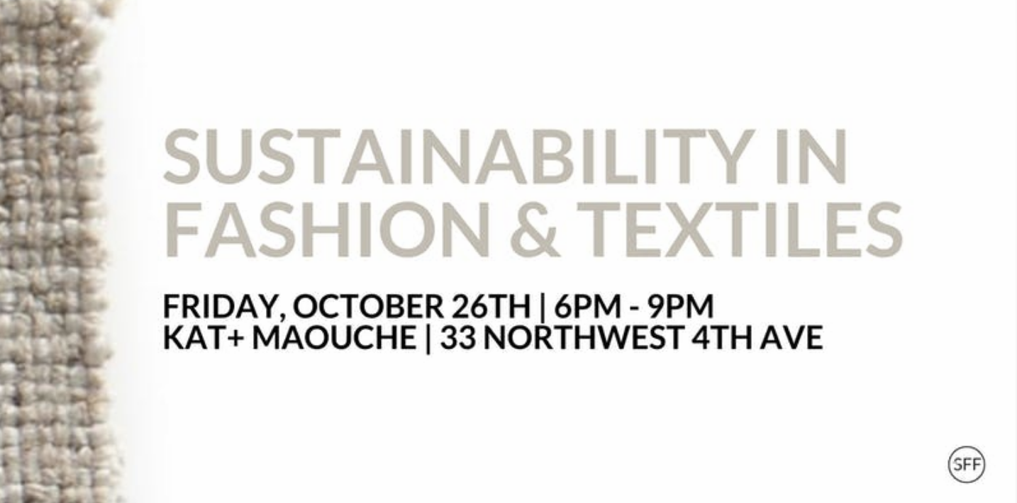 Designing for Change: Sustainable Textiles in the Fashion Industry Panel Discussion